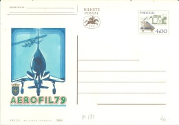 PORTUGAL  -   MNH/*** -  BILHETE POSTAL POSTCARD ENTIER POSTAL STATIONARY AEROFIL 79 4$00  - Lot 10892 - Entiers Postaux