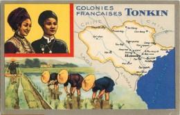 Viêt-Nam - Tonkin- ** Colonie Française ** - Cpa Bon état  - Voir Scan - Vietnam