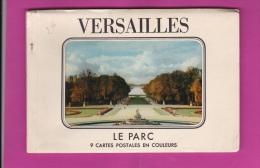 CARNET DE  9  CPM  DE  VERSAILLES,  LE PARC  - AU  DOS  HISTORIQUE  DU  CHÂTEAU - Cartes Postales