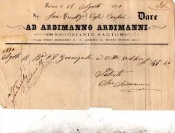 1870 FIRENZE - NEGOZIATE SARTO - Italia