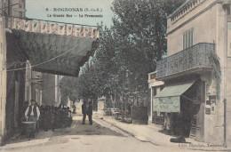CPA - Rognonas - La Grande Rue - La Promenade - Francia