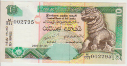 Sri Lanka 10 Rupees 2006 Pick 115 UNC - Sri Lanka