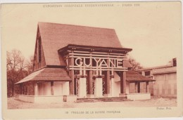 Pavillon De La GUYANE Française En 1931,outre Mer,PARIS ,exposition Coloniale Internationale,rare,tampo N Officiel - Guyane