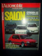"""""""AUTOMOBILE Magazine"""" #484 Oct. 1986 Auto Car Special SALON Essais PEUGEOT P4 4X4 / CITROEN AX TZS ! - Auto/Moto"""