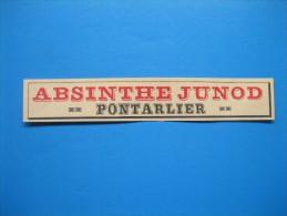 Absinthe JUNOD à Pontarlier (1913) - Vieux Papiers