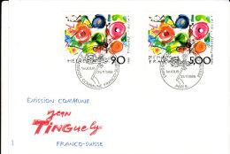 Emission Commune Franco-suisse Tinguely N° 2557 Y&T 25-11-1988 - FDC