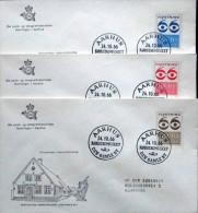 Denmark 1966  FDC MiNr.445-47 Flüchtling / Fugitivo / Fugitif / Fugitive ( Lot Ks) - FDC