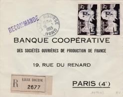 Recommandée De Lille Bourse  Pour Paris  1016 Pierre Martin - Marcophilie (Lettres)