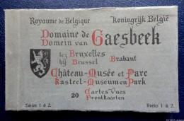 Carnet Complet 20 CPA Sepia - Domaine De GAESBEEK -  Château-Musée Et Parc  - Séries 1 & 2 - Lennik