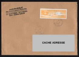 Tahiti Vignette Oblitération Ronde Used Stamp Sur Enveloppe Medipac - Tahiti