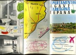 - ESPAGNE CATALOGNE . DEPLIANT TOURISTIQUE TARRAGONA . - Dépliants Turistici