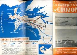 - FRANCE 29 . DEPLIANT TOURISTIQUE PRESQU'ILE DE CROZON  . - Dépliants Turistici