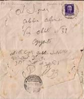 FRANCHIGIA POSTA MILITARE 93 1943 SEGNA CROATIA X AGRIGENTO VARIETA - Militärpost (MP)