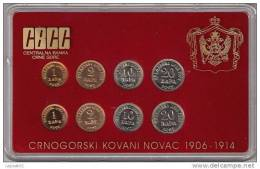 Montenegro Coin Set Mint Set 1906-1914 Issued 2002 By Central Bank Of Montenegro - Coins