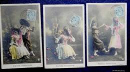 Lot De 5 CPA : AMOURS CHAMPÊTRES -  Signées Walery - 1906 - Other