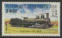 Central African Republic 1984 Mi 1027 YT 621 ** Locomotive PLM Serie 210 (1868) + Portrait George Stephenson/ Lokomotive - Treinen
