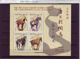 GRENADA, AÑO CHINO DEL CABALLO, 2001, 4008/11, OTEM160 - Chinese New Year