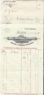Commande/Fabrique D´Instruments De Musique/Abel Morrall Limited/REDDITCH/ Angleterre/Courbe/La Couture/Eure/1930  PART98 - Autres