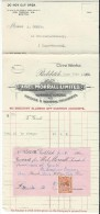 Reçu/Fabrique D´Instruments De Musique/Abel Morrall Limited/REDDITCH/ Angleterre/Courbe/La Couture/Eure/1929 PART100 - Musique & Instruments