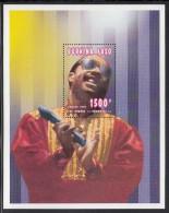 Burkina Faso MNH Scott #1064 Souvenir Sheet 1500fr Stevie Wonder - Entertainers - Burkina Faso (1984-...)