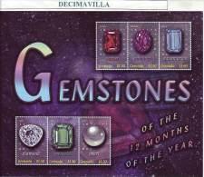 GRENADA, PIEDRAS PRECIOSAS, 2001, 4122G/22M, OTEM174 - Minerali