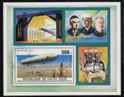 Upper Volta/Burkina Faso Used Scott #C237 Souvenir Sheet 500fr Zeppelin Over Bodensee - Haute-Volta (1958-1984)