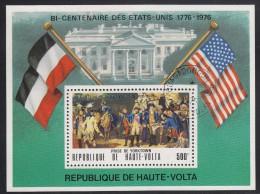 Upper Volta/Burkina Faso Used Souvenir Sheet 500fr Siege Of Yorktown - American Bicentennial - Haute-Volta (1958-1984)