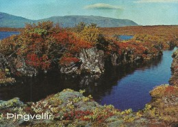 Iceland. Autum Landscape At Thingvellir.   Sent To Denmark.  # 04285 - Iceland
