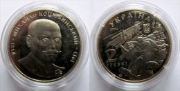 """Ukraine - 2 Grivna Coin 2004 """"Mykhailo Kotsiubynskyi"""" UNC - Ucraina"""