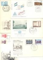 50 SOBRES Y TARJETAS ARGENTINA ARGENTINE  FDC O SPECIAL COVERS  CARDS AND ENVELOPES  DIFERENTES - Postzegels