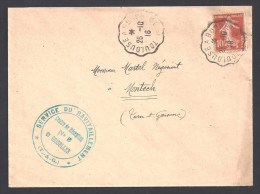 Tarn Et Garonne - Cachet Service Du Ravitaillement - Centre De Réception N° 5 De GRISOLLES - WW I