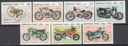 BURKINA FASO 1985 MOTORRAD MOTO MOTORBIKES MOTORCYCLES  MNH ** NEUFS  CAR1 - Motorräder