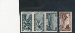 VIGNETTES -  EVIAN - LA BELLE FRANCE - UNE BANDE DE 3 + 1  -TB - Commemorative Labels