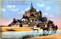 50 LE MONT-SAINT-MICHEL ++ Vue Générale Et Voiture De Genets ++ - Le Mont Saint Michel