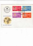 SVIZZERA  1975 - Yvert S 446/9 - Annullo Speciale  - Org. Mondiale Sanità - WHO