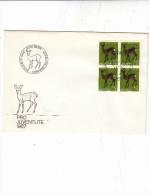 SVIZZERA  1967 - Yvert  799 - FDC - Animali - Daino - Annullo Speciale - Stamps