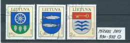 LITAUEN MICHEL SATZ 930 - 932 Gestempelt Siehe Scan - Lithuania