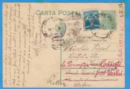 ROMANIA  Stationery Postcard Postal History King Carol II Postcard  ??? Send ??? 1934 - Cartas