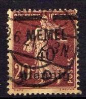 Memel 1920 Mi 22, Gestempelt [261214XI] - Memelgebiet