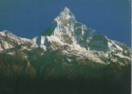 South-west View Of Machhapuchhare. Sent To Denmark     Nepal   # 04319 - Nepal