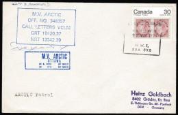 "ARCTIC, CANADA,1979 , M/V "" ARCTIC "",  Cachets  ARCTIC PATROL + Signature, Look Scan !! 2512-45 - Arctische Expedities"