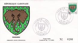 Enveloppe 1er Jour Blason De Fougamou - Gabon (1960-...)