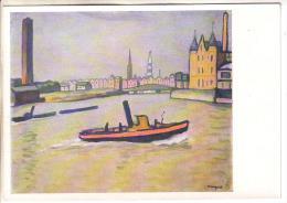 GOOD RUSSIA ART Postcard - Marke - Port Of Hamburg - Passagiersschepen