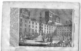 1835 Italian Magazine  Wonderful Engraving Of  LISBON Lisboa   In Portugal - Vor 1900
