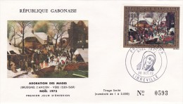 Enveloppe 1er Jour Libreville Noel 1972 - Gabon (1960-...)