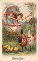 ¤¤   -  Joyeuses Pâques  -  Oeuf , Poule , Poussin , Petites Filles   -  ¤¤ - Pâques