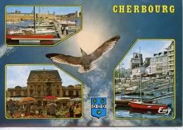 Cherbourg Multivues : Port Théâtre Marché Aux Fleurs Avant Port Quai Caligny N°10191 Le Goubey - Cherbourg