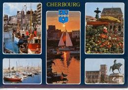 Cherbourg Multivues : Cordiers Quai Caligny Bassin Yachts Couchant Marché Fleurs Place Théâtre Napoléon Trinité N°10192 - Cherbourg