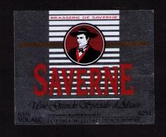 Jolie étiquette Bière Saverne, Brasserie De Saverne, Début Années 1990 - Bière