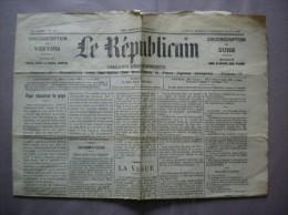 LE REPUBLICAIN DES 16,17,18 AOUT 1909 CIRCONSCRIPTION DE VERVINS ET DE GUISE 1 PAGE DISCOURS DE M.ERNEST LAVISSE - Andere